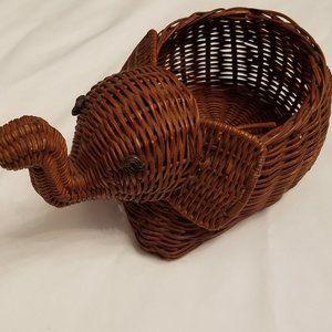 Wicker Elephant Basket